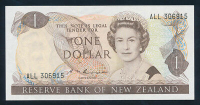 "New Zealand: 1985 $1 Russell QEII Portrait SCARCE WORD PREFIX ""ALL"". P169b AUNC"