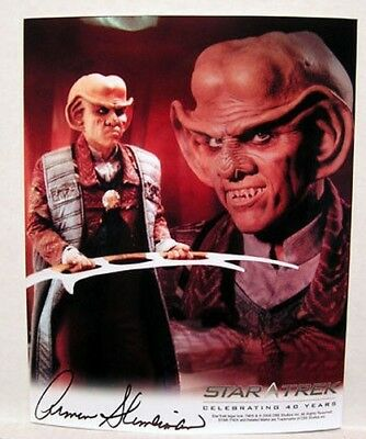 Armin Shimmerman Quark STAR TREK DEEP SPACE 9 AUTOGRAPH