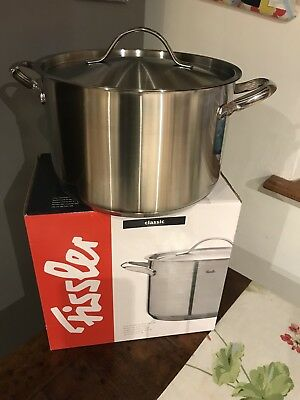 Fissler Stainless Steel 6.8 Litre Pan And Lid Brand New In Box RRP £110