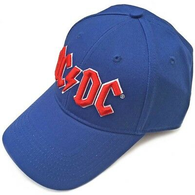 44423be2c9170 Ac dc Men s Baseball Cap  Red Logo (mid Blue)
