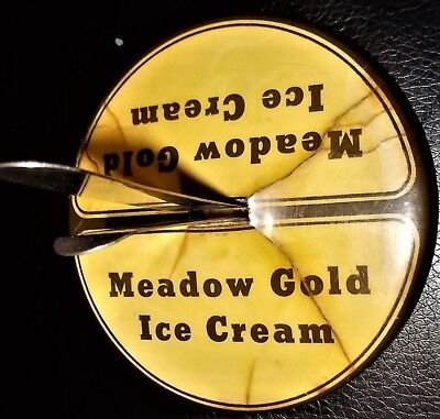 Antique Great Falls Montana Meadow Gold Ice Cream Desk Top Bill/letter Holder
