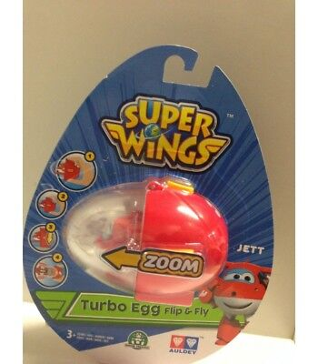 Giochi Preziosi Super Wings Jett Turbo Egg Flip & Fly Mini Figure New