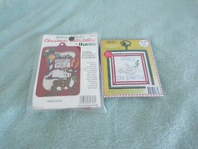 **Two Christmas Cross Stitch Kits - Bucilla**