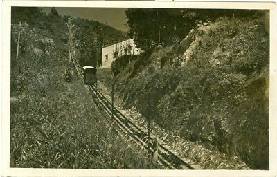 Penang Hill Peak Funicular Railway RP view of mountain railway - Singapore 1928