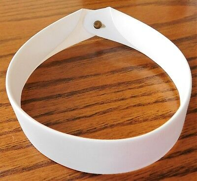 """Vintage full clerical collar size 15.5"""" Vicar priest dog collar Wippell Cardinal"""