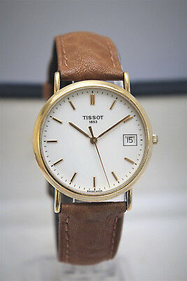 Tissot Oroville - Solid 18K Gold Mens Watch - Beautiful! - Boxed! -No Reserve!