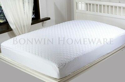 Quilted Padded Fully Fitted Mattress Protector With Pure Cotton Cover QUEEN Bed