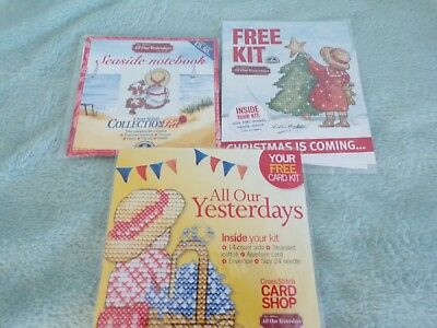 **Three All Our Yesterdays Cross Stitch Kits**