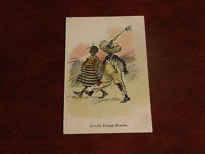 Original Ethnic Children Postcard - Love's Young Dream - Hartmann.