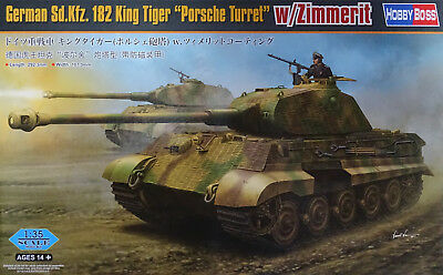 HOBBYBOSS® 84530 King Tiger Sd.Kfz.182 Porsche Turret w/Zimmerit in 1:35