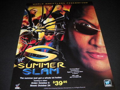 WWF Summer Slam 2000 PROMO POSTER AD Summer Just Got A Lot Better mint condition