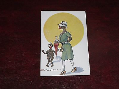 Original Boirau Signed Ethnic Postcard - Blessings Of Civilisation.