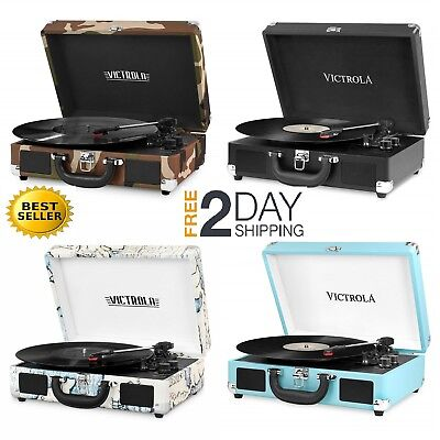 VICTROLA PORTABLE BLUETOOTH turntable - $29 00 | PicClick