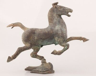 Retro Bronze Unique Hand Carving Horse Animal Statue Old Antique Collection