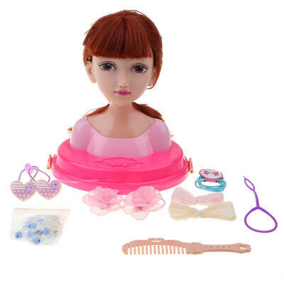 Girls Hair Styling Dream Dolls Head Play Set Toy With Accessories
