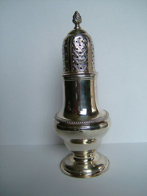 Antique George Iii, English Sterling Silver Pepper, Hallmarked London 1768