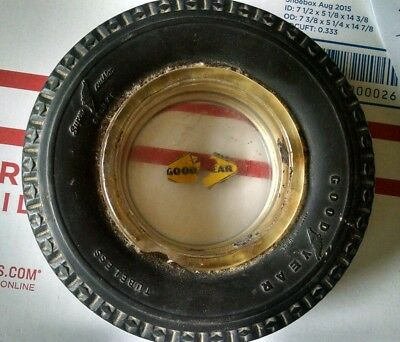 """6"""" Wide Antique Goodyear Tire Ashtray Advertising"""