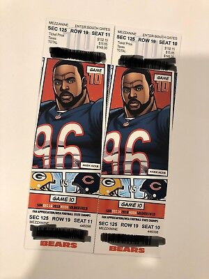 2018 chicago bears vs greenbay packers tickets