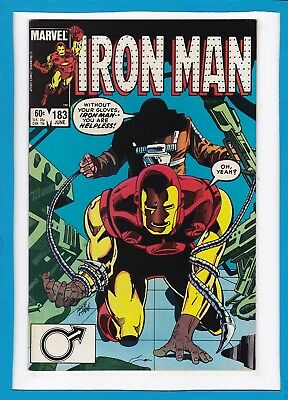 """Invincible Iron Man #183_June 1984_Near Mint Minus_""""all Kinds Of Fear""""_Marvel!"""
