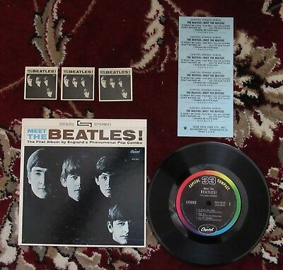 Beatles 1964 MEET THE BEATLES COMPACT 33 JUKEBOX EP W COVER & INSERTS COMPLETE !