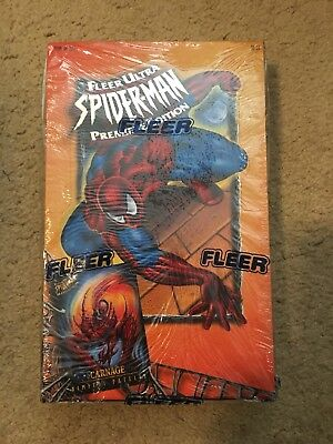 1995 Fleer Ultra Spider-Man Box Premiere Edition 36 Packs Factory Sealed!