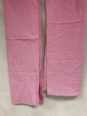 2 Pottery Barn Kids Pink Plaid Curtain Panels 44X84 One Pair