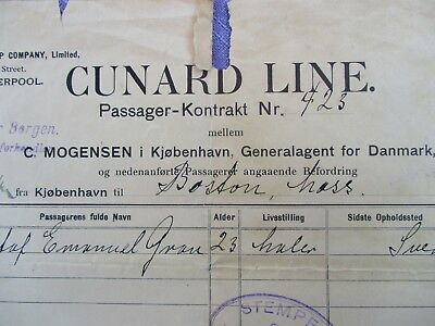 1907 HUGE Cunard Line S.S. SAXONIA,(Carpathia was the Sister Ship),document