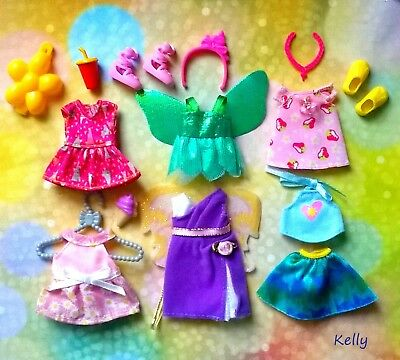 Lot Of Barbie Kelly Doll Clothes Accessories Plus Shoes C