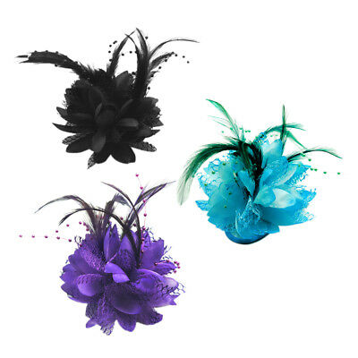 Decorative Feather Flower Clips Wrist ,Fascinator DIY Supply Party Decors