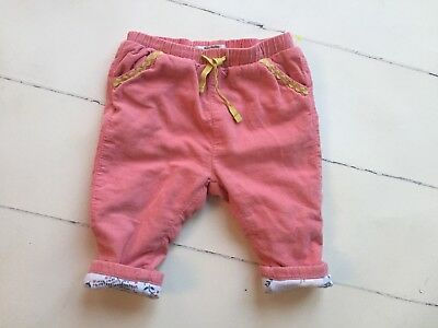 Mini Boden Baby Girls Pants Jeans 6-12 Months Corduroy Pink Winter Fall