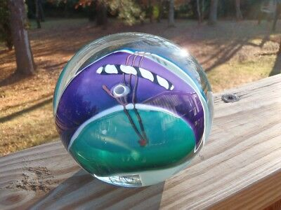 "Jim Wilbat Hand Blown Studio Glass Abstract Shard 4.5"" PAPERWEIGHT Signed 1996"