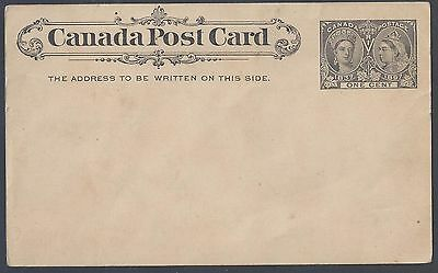 Canada 1897 One Cent Queen Jubilee Postal Card Mint Slight Corner Bend See Scans