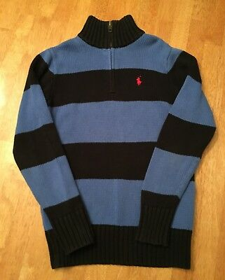 Polo Ralph Lauren  Boys 1/4 Zip Long Sleeve Sweater - Striped - Size S 8/10