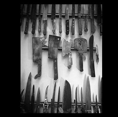 Vintage Creepy Halloween Knives PHOTO Rusty Butcher Knife Collection Freak Scary