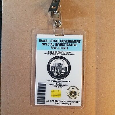 Hawaii Five-O ID Badge-Special Investigator costume prop cosplay