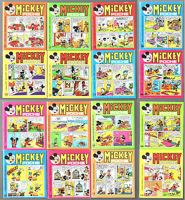 LOT de 16 MICKEY POCHE n°14-20-21-23-24-25-27-28-35-40-41-42-45-46-48-50 ¤ TBE