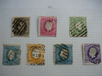 PORTUGAL fine collection of early issues 1870-1912  Mint and used  ~ 94 stamps