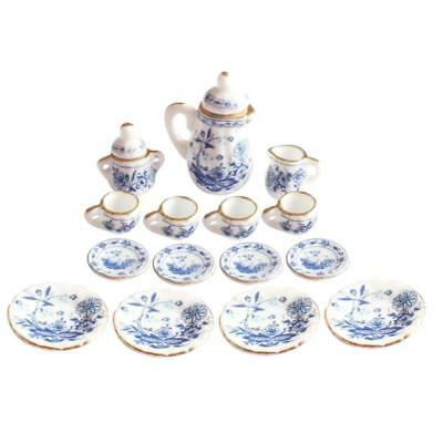 Blue Floral Porcelain Tea Set Sale Stock Tool 2018 Newest Replaces High Quality