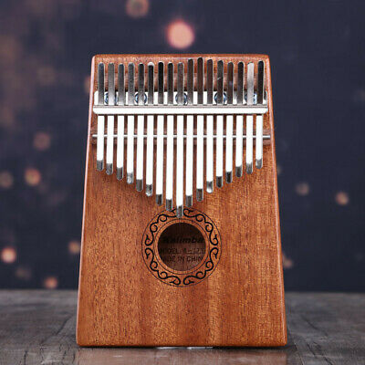 17 Key Kalimba Single Board Mahogany Thumb Piano Keyboard Instrument NEW