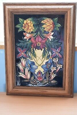 Moorcroft Framed The Hidcote Tile LTD Edition 20 of 250 Boxed.2004 Philip Gibson