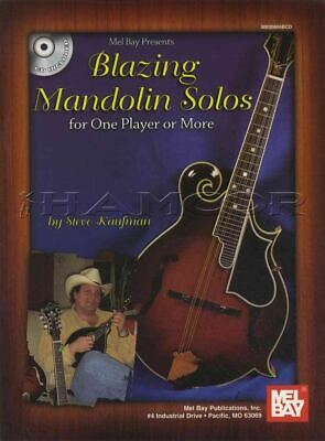 Blazing Mandolin Solos Learn How to Play TAB Music Book with CD