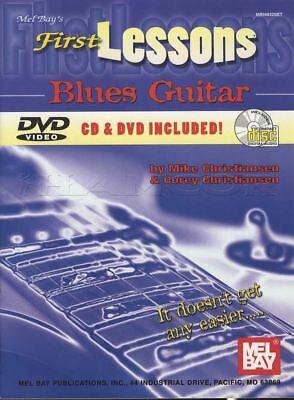 First Lessons Blues Guitar TAB Music Book with DVD and CD Learn How To Play