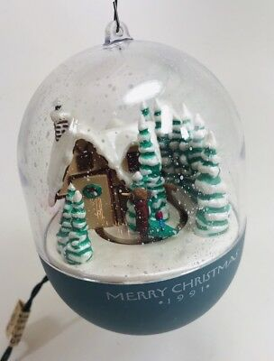 Vintage Hallmark Christmas Ornament 1991 Bringing Home Tree Light Motion Magic
