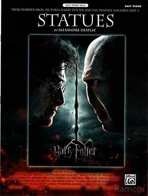 Statues from Harry Potter Easy Piano Solo Sheet Music Deathly Hallows Part 2