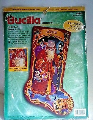 Bucilla Father Christmas Needlepoint Stocking Kit 60769 Nancy Rossi NIP Unused