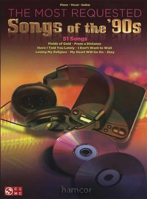 The Most Requested Songs of the 90s Piano Vocal Guitar Sheet Music Book