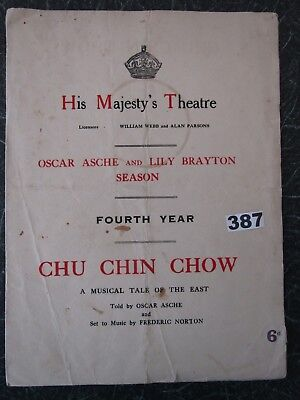 "HIS MAJESTY'S Theatre ""CHU CHIN CHOW"", Oscar Asche, Lily Brayton, C.Pounds, 1919"
