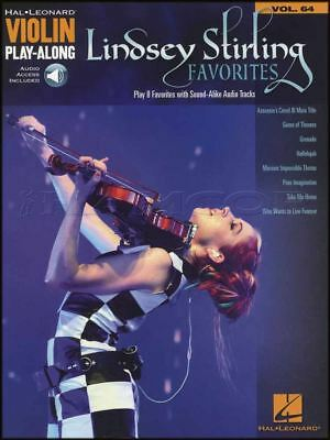 Lindsey Stirling Favorites Violin Play-Along TAB Music Book with Audio