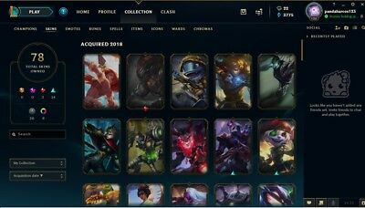 LEAGUE OF LEGENDS Account EUNE Platinum 5 : Level 51 / 125 champ