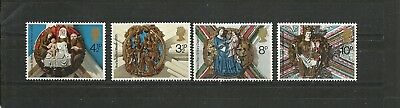 Great Britain 1974 Xmas SG 966 969 MNH